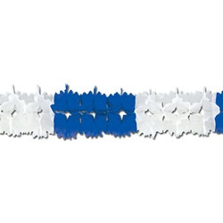Blue and White Pageant Garland