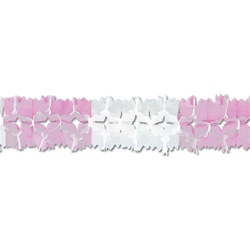 Pink and White Pageant Garland