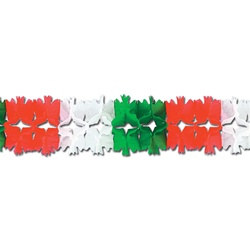 Red, White, and Green Pageant Garland
