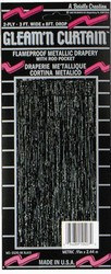 Black 2-Ply Gleam N Curtain Metallic Curtain