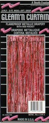 Red 2-Ply Gleam N Curtain™ Metallic Curtain