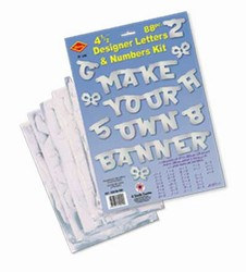 Silver Designer Letter and Number Kit
