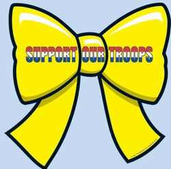 Support Our Troops Ribbon Cutout, 10 inches (1/pkg)