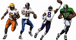 Football Cutouts (4/Pkg)
