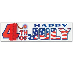 4th of July Sign with Tissue Firecracker