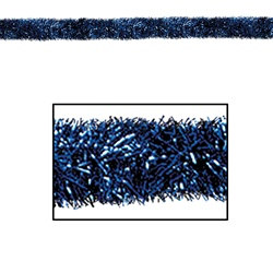 Blue Gleam 'N Tinsel Holiday Garland