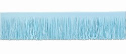 Light Blue Tissue Fringe Drape