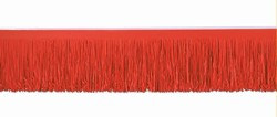 Red Tissue Fringe Drape