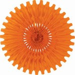 Orange Art-Tissue Fan