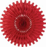 Red Art-Tissue Fan