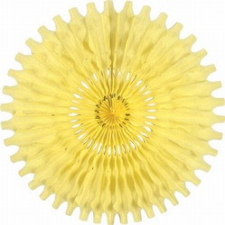 Yellow Art-Tissue Fan