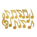 The Gold Foil Musical Note Silhouettes are made of foil cardstock and range in sizes from 12 inches to 21 inches. The foil gives them a shiny finish which adds a touch of elegance wherever you put them. Contains 12 pieces per package.