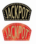 Glittered Casino Jackpot Sign