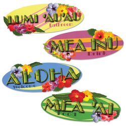 Hawaiian Sign Cutouts