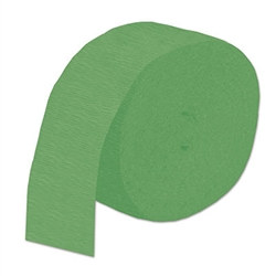 Green Flame Retardant Crepe Streamer