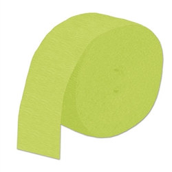 Light Green Flame Retardant Crepe Streamer