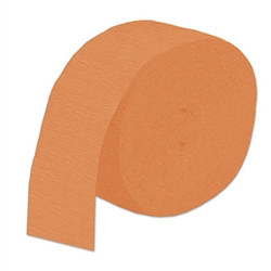 Orange Flame Retardant Crepe Streamer