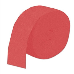 Red Flame Retardant Crepe Streamer