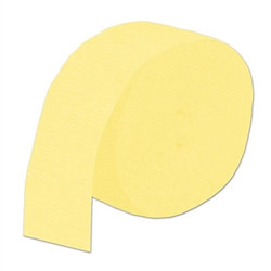 Yellow Flame Retardant Crepe Streamer