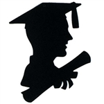 Boy Graduate Silhouette, 12 inches