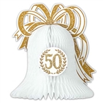 50th Anniversary Tissue Bell Centerpiece