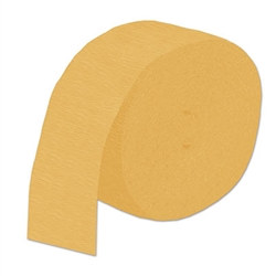 Golden Yellow Flame Retardant Crepe Streamer