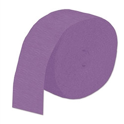 Purple Flame Resistant Crepe Streamer