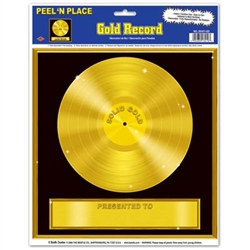 Gold Record Peel N Place (1/sheet)