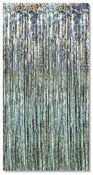 Prismatic Silver 1-Ply Gleam N Curtain
