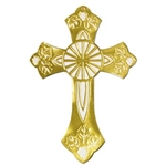 Gold Foil Cross Silhouette 17.5in