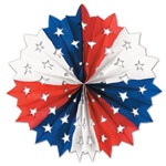 Red, White, and Blue Star Fan