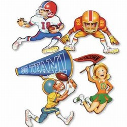 Football Cutouts (5/pkg)