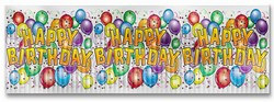 Metallic Happy Birthday Balloon Banner