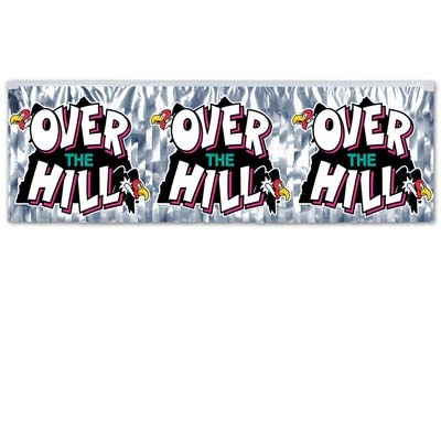 Metallic Over-The-Hill Banner