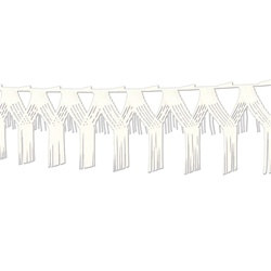 White Drop Fringe Garland