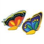 Tissue Butterflies, 24in (2/pkg)