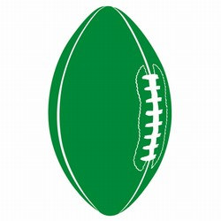 Green Football Cutout, 18in