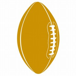 Gold Football Cutout, 18in