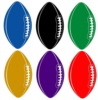 Football Cutout (Choose Color)