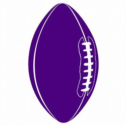 Purple Football Cutout, 18in