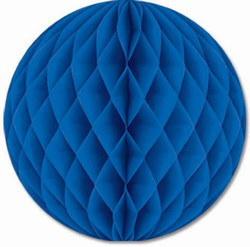 Blue Art-Tissue Ball, 12 in