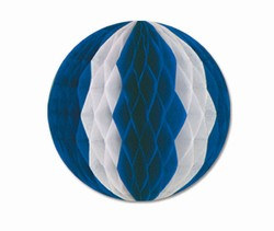 Blue and White Art-Tissue Ball, 19 in