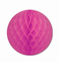 Cerise Art-Tissue Ball, 12 in