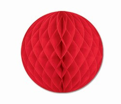 Red Art-Tissue Ball, 14 in