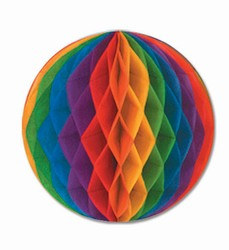 Rainbow Art-Tissue Ball, 14 in