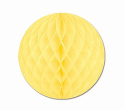 Yellow Art-Tissue Ball, 12 in