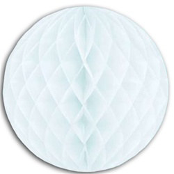 White Art-Tissue Ball, 19 in