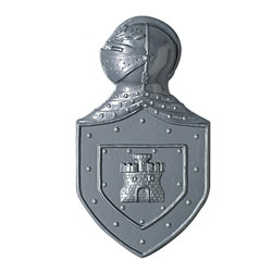 The Plastic Knight's Crest is perfect for decorating your walls or doors to really get the old-school castle feel. This suit of armor crest is the ideal decoration for a Renaissance or medieval theme party or birthday gala. Measures 22 inches.