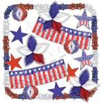 Stars and Stripes Metallic Decorating Kit