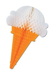 Tissue Ice Cream Cone, 15 inches
